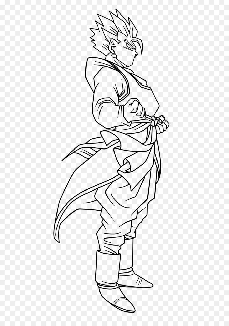 Gohan libro para Colorear de Dibujo de la Línea de arte Goku - goku ...