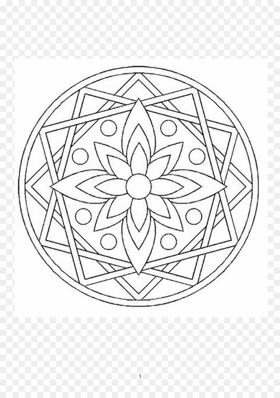 Mandala para Colorear libro Infantil de Dibujo - mandala de contorno ...