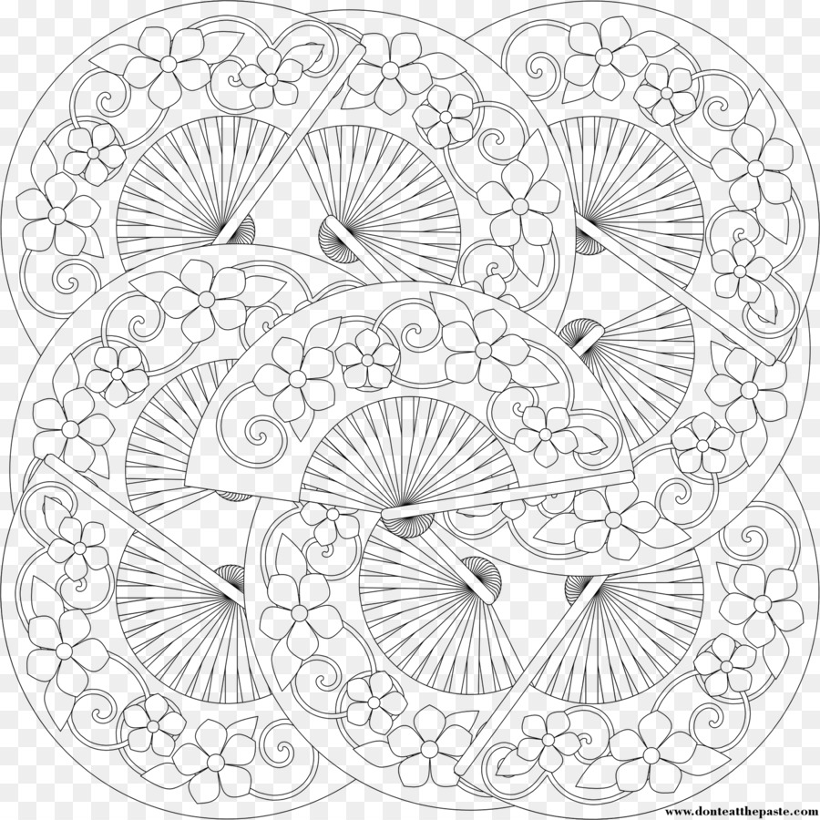 Large Coloring Book: Coloring Books for Kids Hand fan Child - fan ...