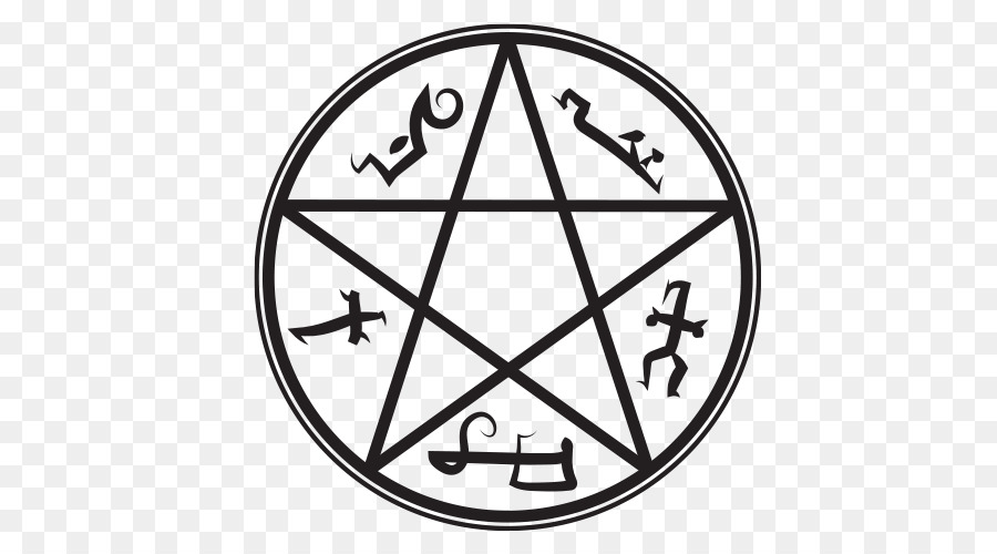 Devils Trap Demon Symbol Pentagram Devil Png Download 500500