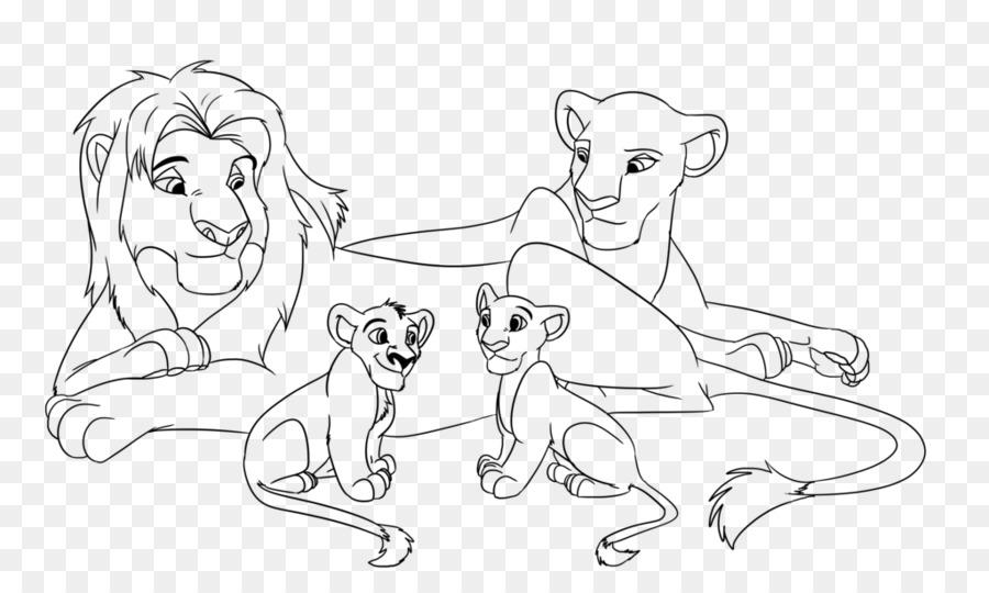 León de la Línea de arte de Zira Dibujo de Croquis - león png dibujo ...