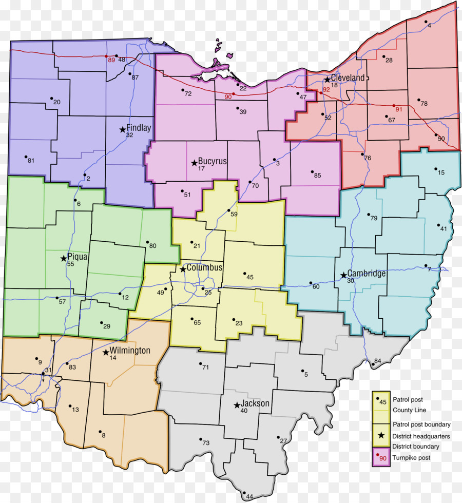 map png download - 2056*2234 - Free Transparent Ohio Turnpike png ...
