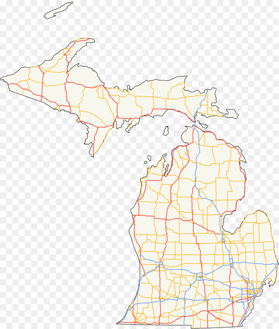 Michigan State Trunkline Highway System Us Route 23 In Michigan Us - Us-map-michigan-state