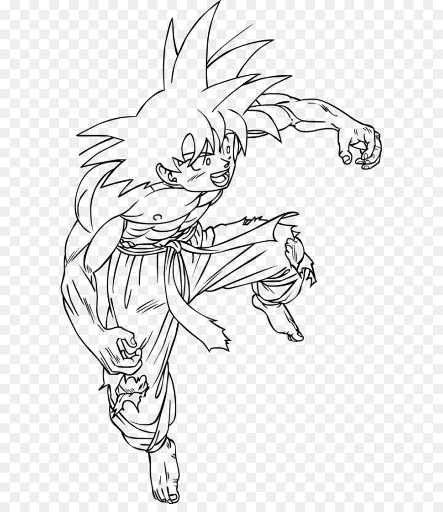 Trunks Gohan libro para Colorear de Goku, Goten - goku png dibujo ...
