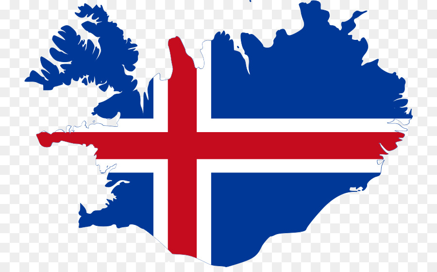 Flag of Iceland Vector Map - map png download - 800*550 - Free ...