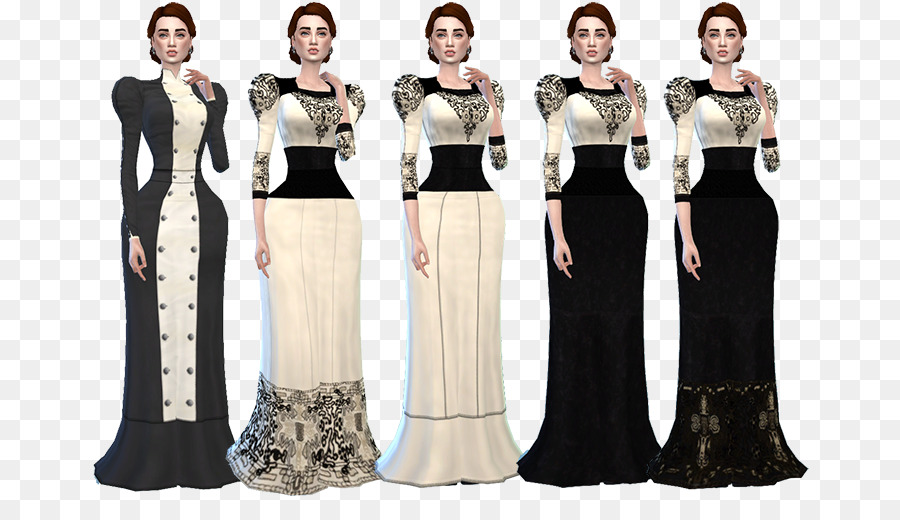The Sims 4 Gown Victorian fashion Dress Clothing - dress png ...