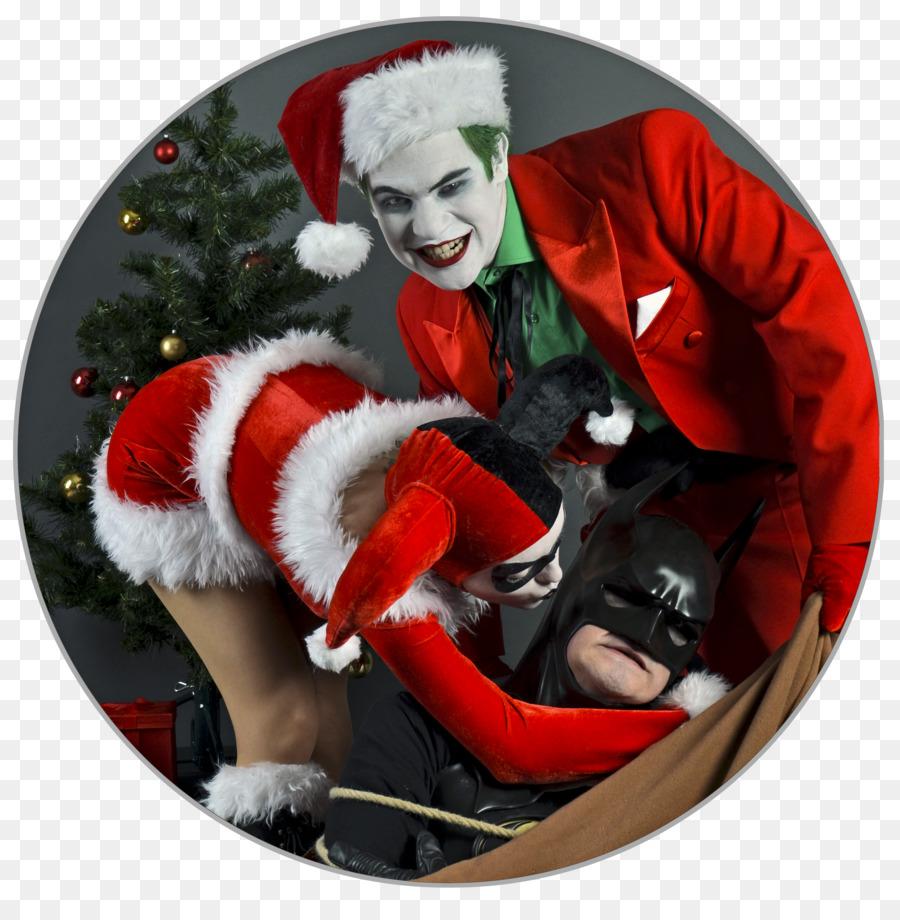 Santa Claus Alex Ross Joker Harley Quinn Christmas ornament - santa ...