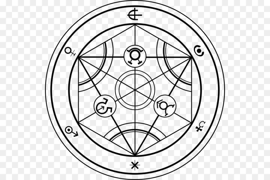 Circle Human Transmutation Alchemy Tattoo Nuclear Transmutation