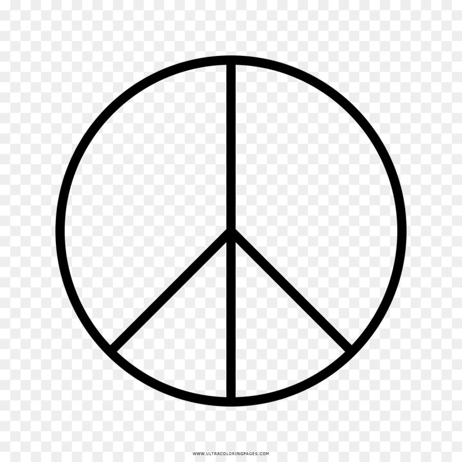 La paz símbolos Hippie - símbolo png dibujo - Transparente png ...