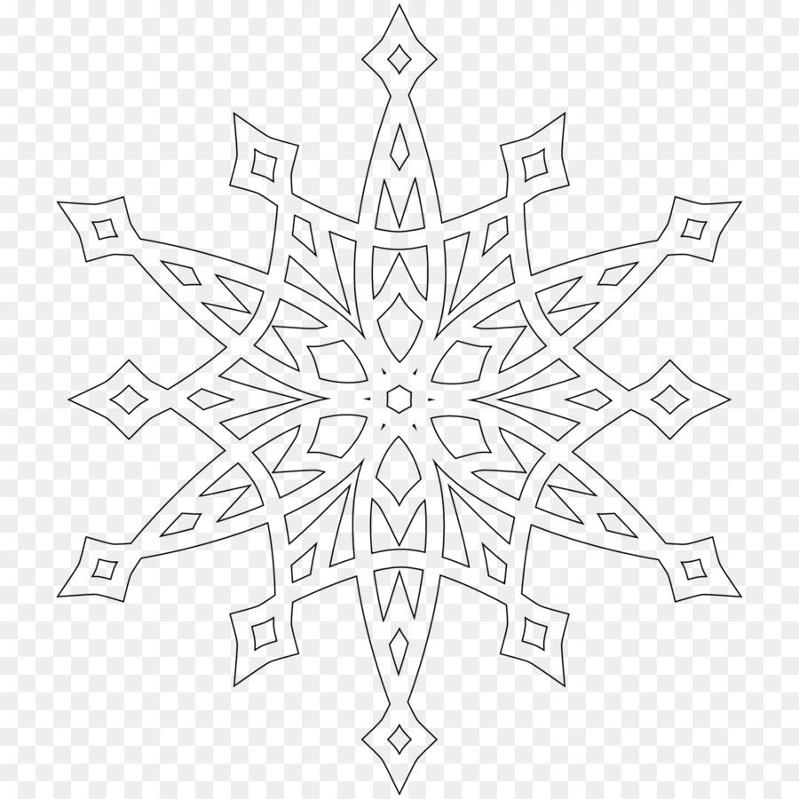 Snowflake Coloring book Child Christmas - Snowflake png download ...