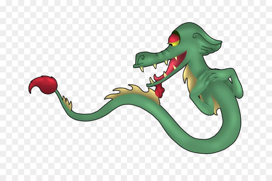 Ular Makhluk Legendaris Hewan Kartun Animasi Red Orb Virus Kanker