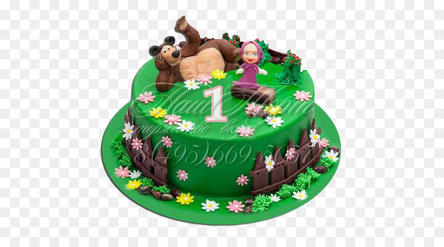 Torta Cupcake Masha Birthday Cake Bear Bear Png Download 500500