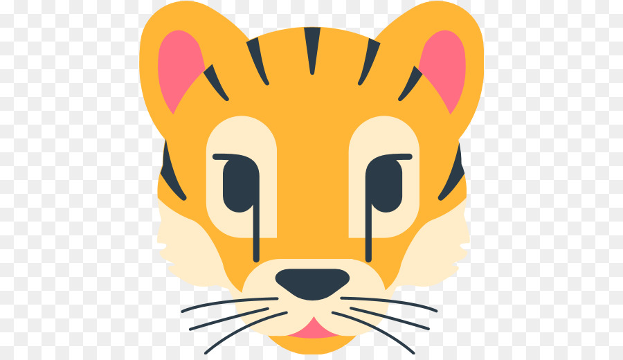 Whiskers Tiger Emoji Emoticon Symbol Tiger Png Download 512512