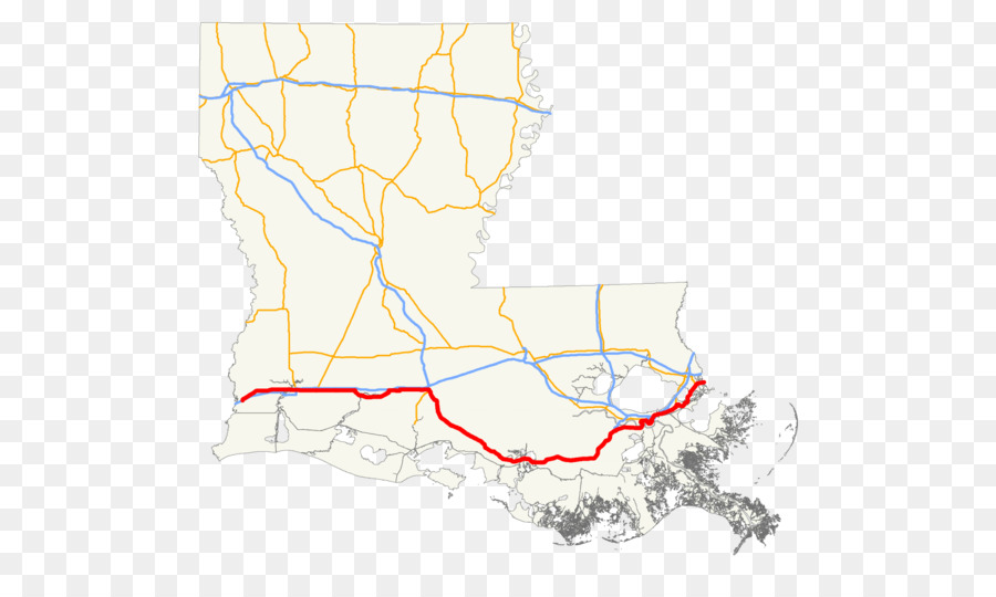 Us Route 90 In Louisiana Interstate 10 Us Route 90 In Louisiana - Us-interstate-90-map