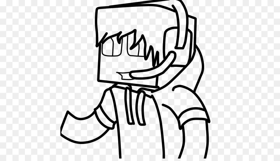 Minecraft en blanco y Negro de dibujos animados de Dibujo de la ...