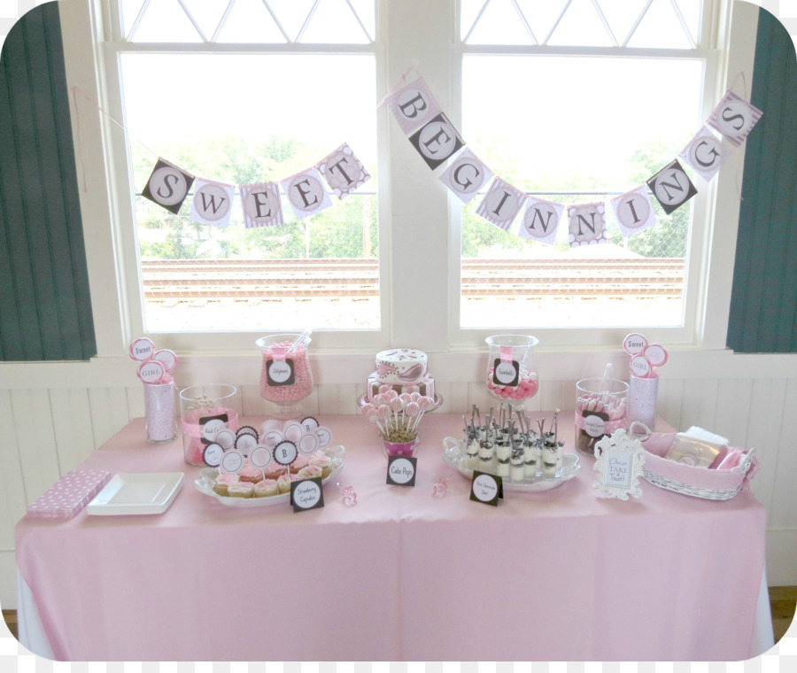 Baby Shower Table Party Bridal Shower Dessert Table Png Download