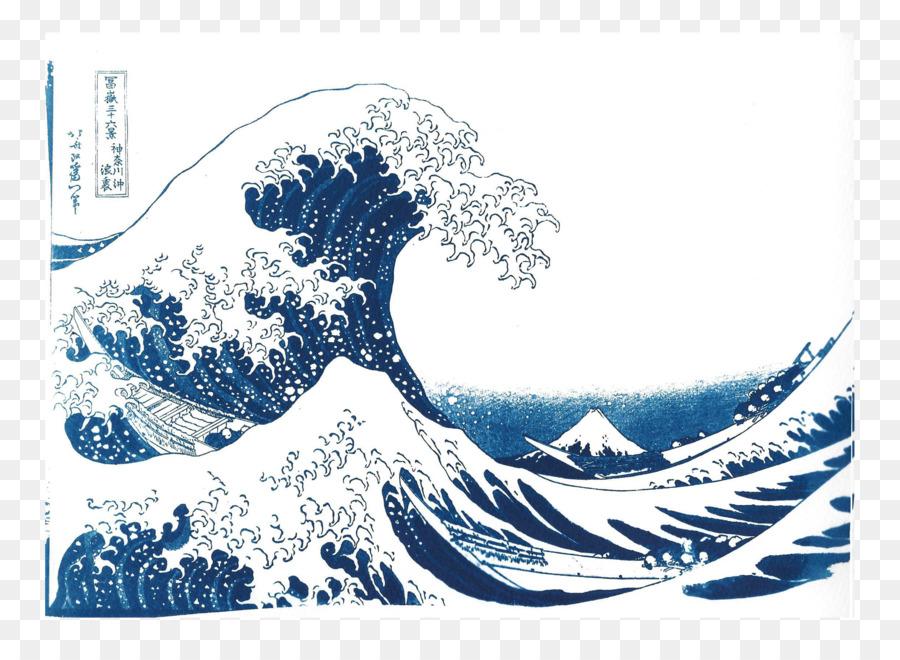 Die Große Welle Vor Kanagawa Sechsunddreißig Ansichten Des Berges