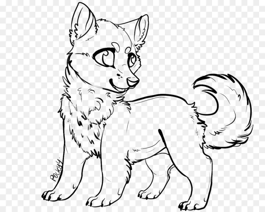siberian husky line art alaskan husky drawing husky png download