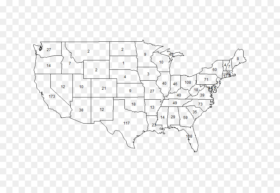United States Blank map U.S. state - color jiugong map png ...