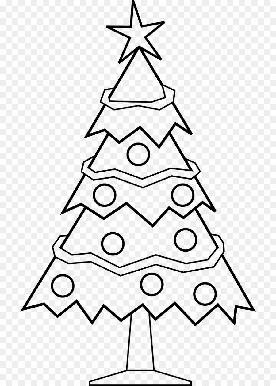 Christmas Tree Line Drawing Png Download 768 1260 Free