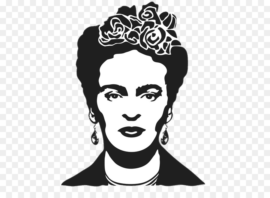 Diego Rivera Frida Kahlo: Mexican Painter Stencil - painting png ...