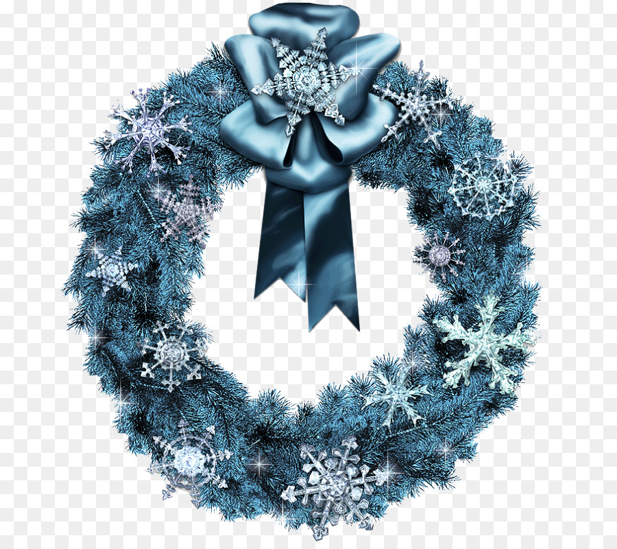 Christmas wreath blue. Tree png download free