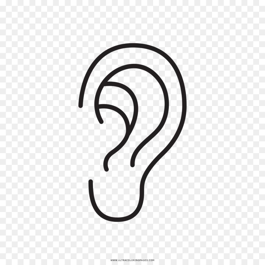 Dibujo del Oído de la Cara para Colorear libro - oído Formatos De ...