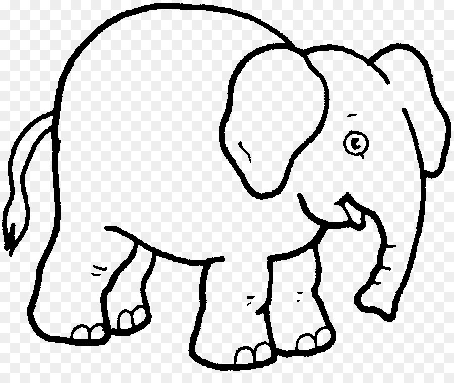 Drawing Elephant Coloring Book Clip Art Elephant Png Download