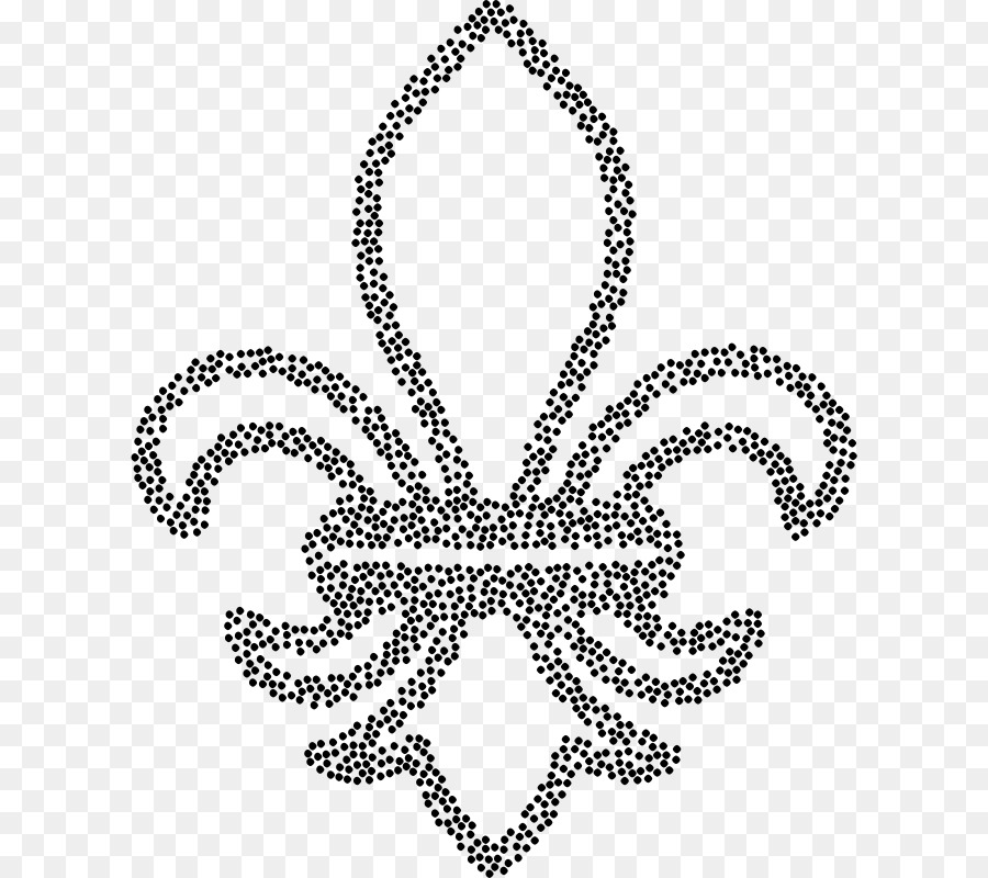Line Art Fleur De Lis Stippling Drawing Clip Art Symbol Png