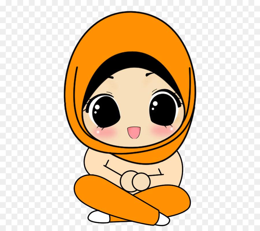 Jilbab Gambar Islam Kartun Muslim Unduh Emoticon Kepala Foto Muslimah