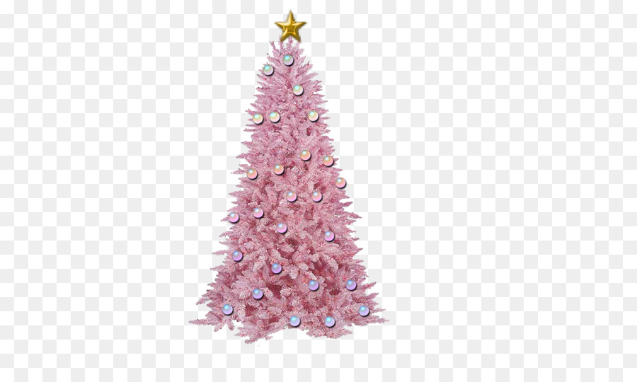 Artificial Christmas Tree Pink Png Download 700 525 Free
