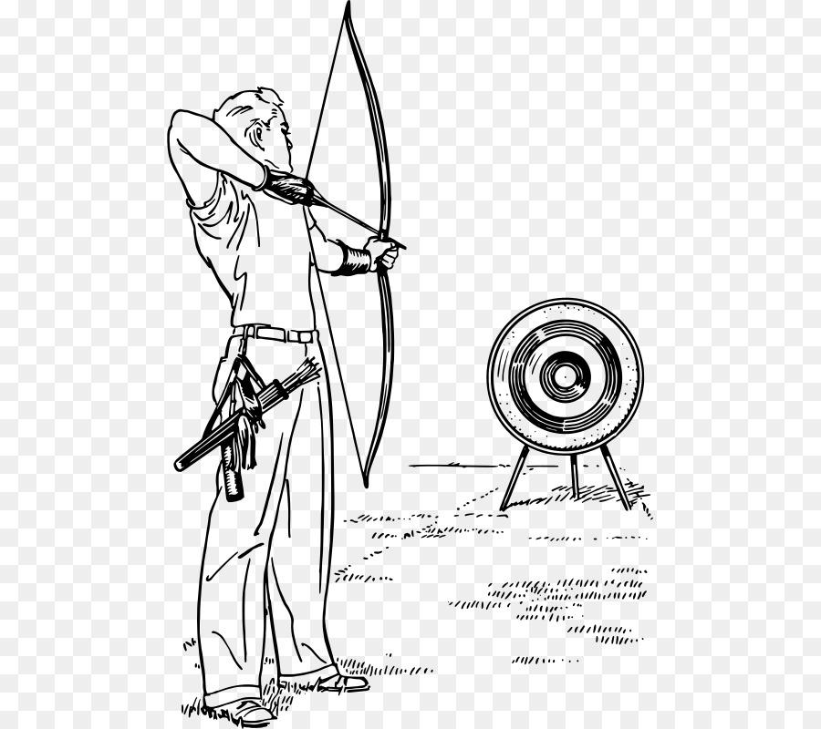 El arco y las flechas Diana de tiro con arco de Dibujo de Caza ...