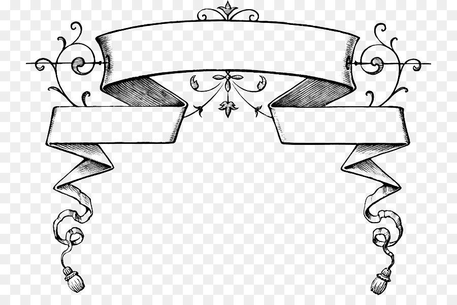 Des banderoles rubans et rouleaux de banni res rubans et - Dessin banderole ...