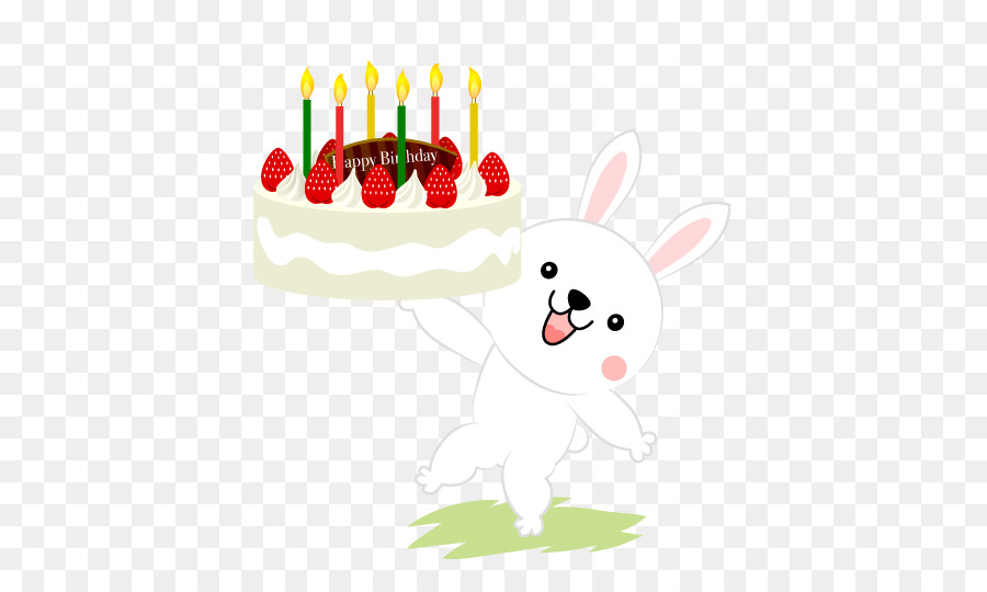Birthday Cake Christmas Rabbit Shortcake