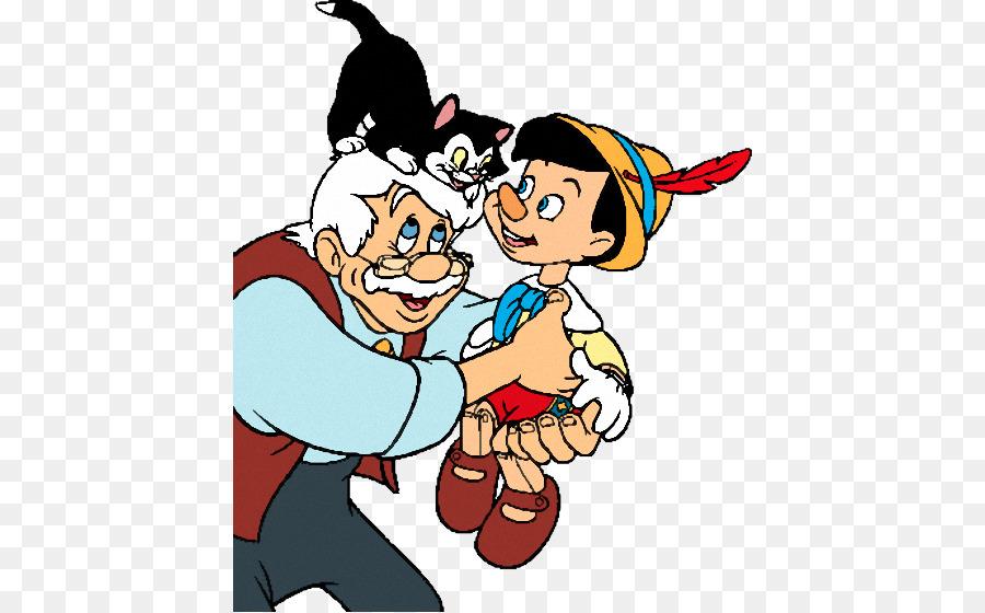 Pinocchio Geppetto Jiminy Cricket Figaro Clip art - pinocchio png ...