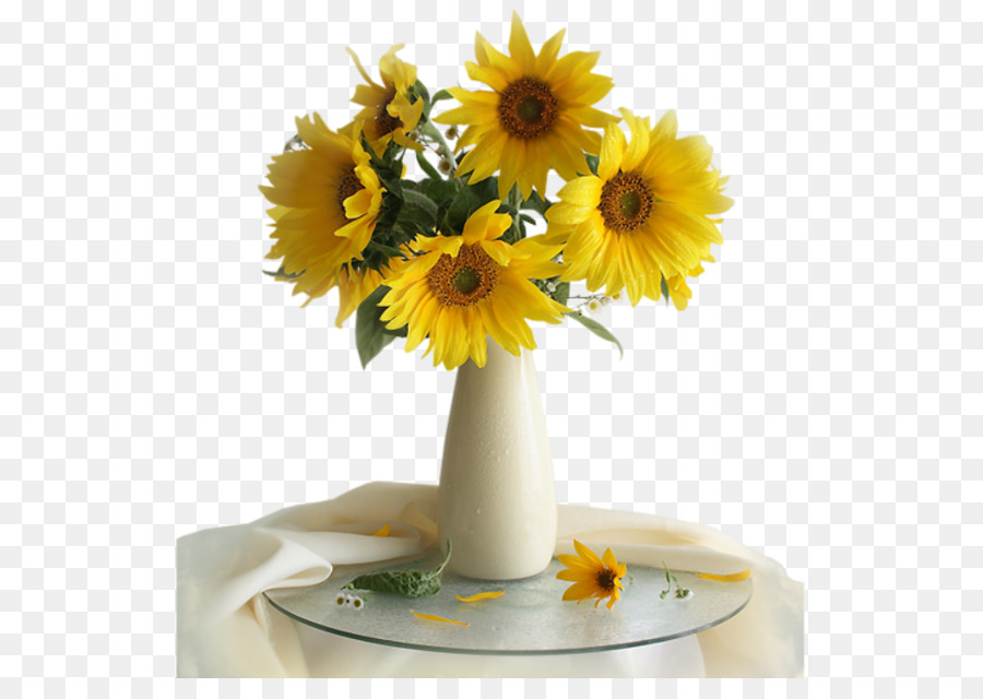 Common Sunflower Vase With Twelve Sunflowers Still Life Photography