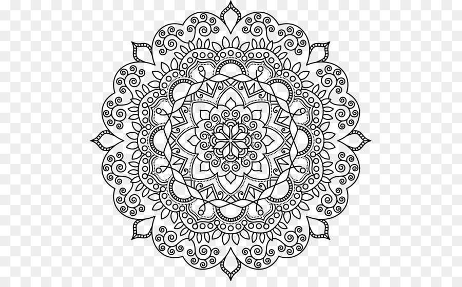 Mandala Coloring Pages Mehndi Coloring book Pattern - others png ...