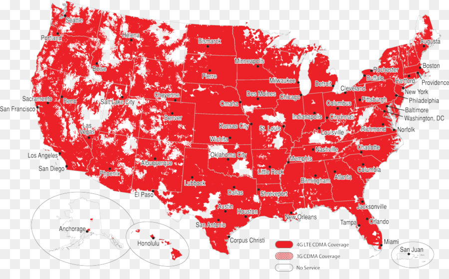 Coverage Map Mobile Phones Verizon Wireless LTE Others Png - Verizon cell phone coverage map