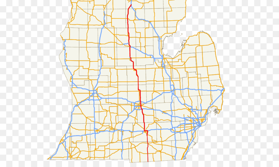 Business Routes Of Us Route 127 In Michigan Us Route 16 In - Us-127-michigan-map