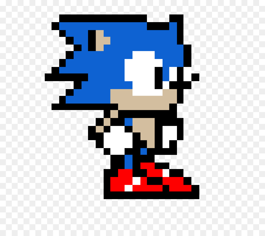 Sonic Pixel Art png download - 800*800 - Free Transparent Sonic The