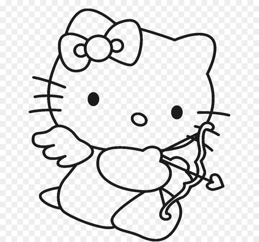 Hello Kitty libro para Colorear en Línea Dibujo de Niño - niño png ...