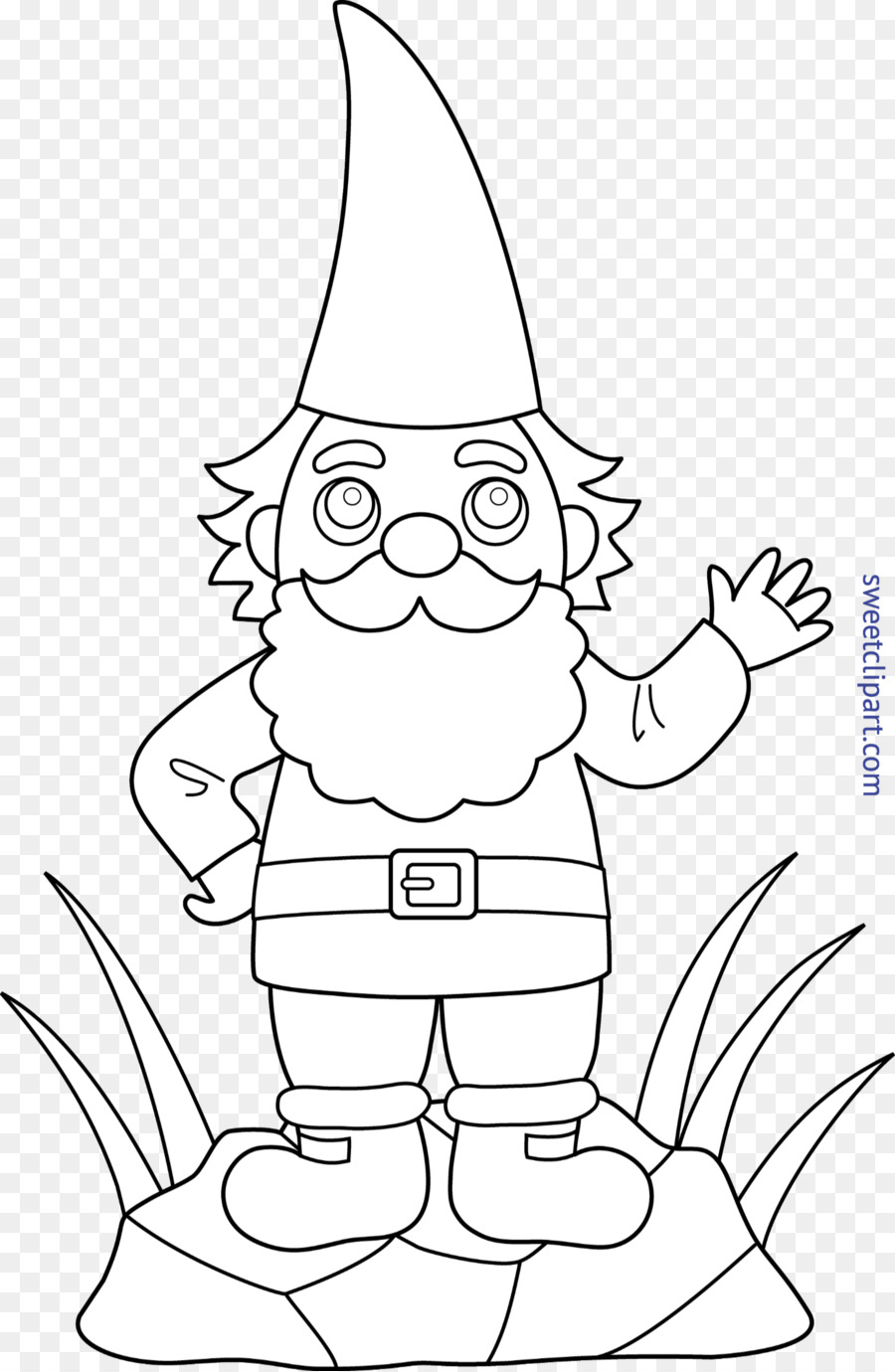 Garden Gnome Flower Drawing Coloring Book