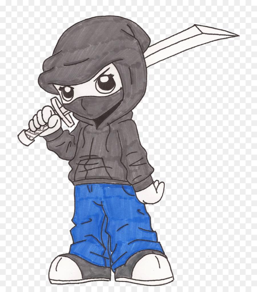 Hoodie drawing ninja boy head png