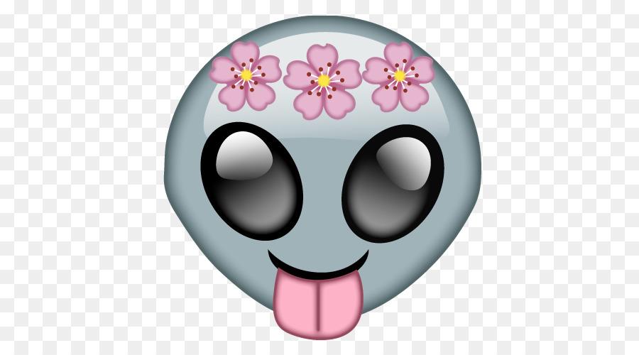 Emoji Sticker Extraterrestrial Life Alien Emoji Png Download 500