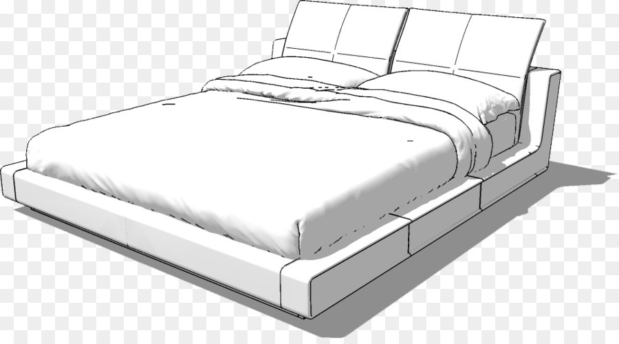 Bed Frame Sketchup Bedroom Mattress Bed Png Download 965 527