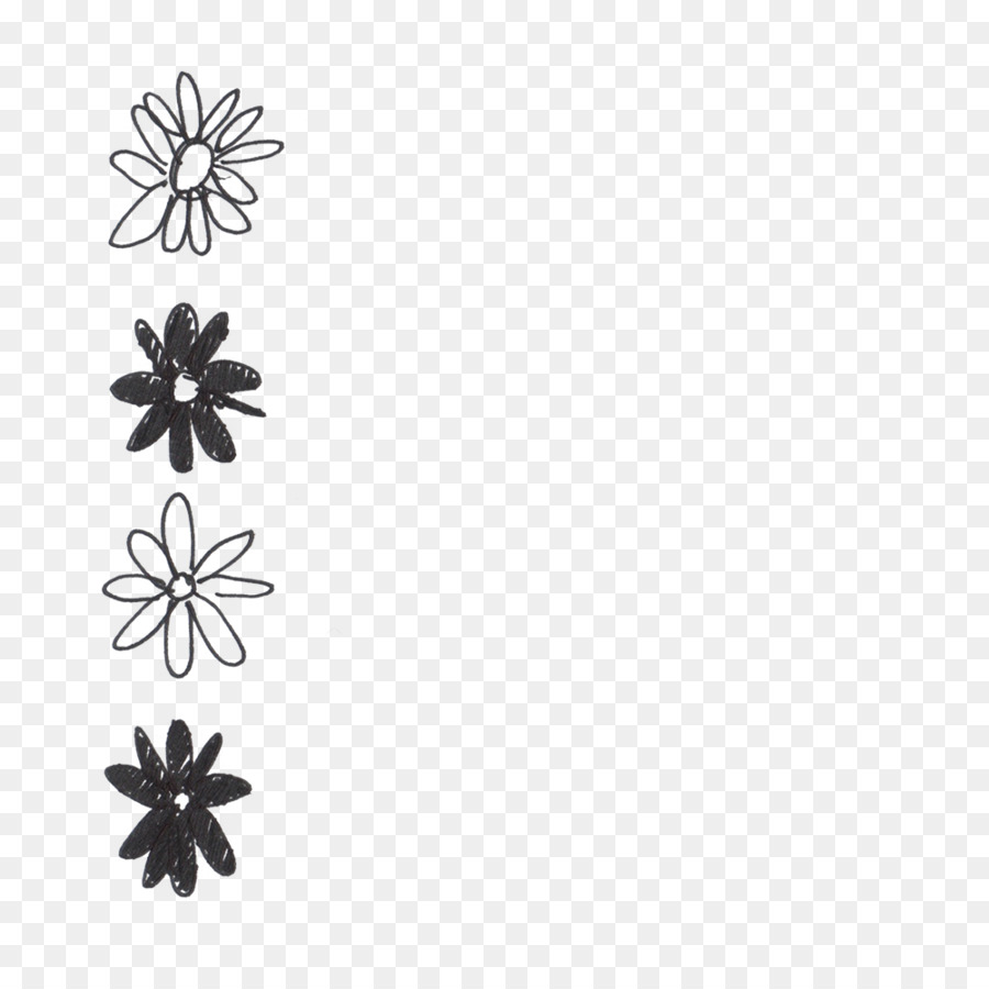 Black And White Flower png download - 1000*1000 - Free Transparent