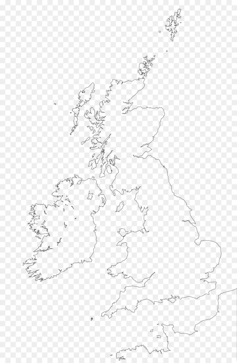 British Isles Blank map Great Britain World map - map png download ...