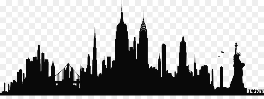new york city skyline silhouette wall decal phonograph record