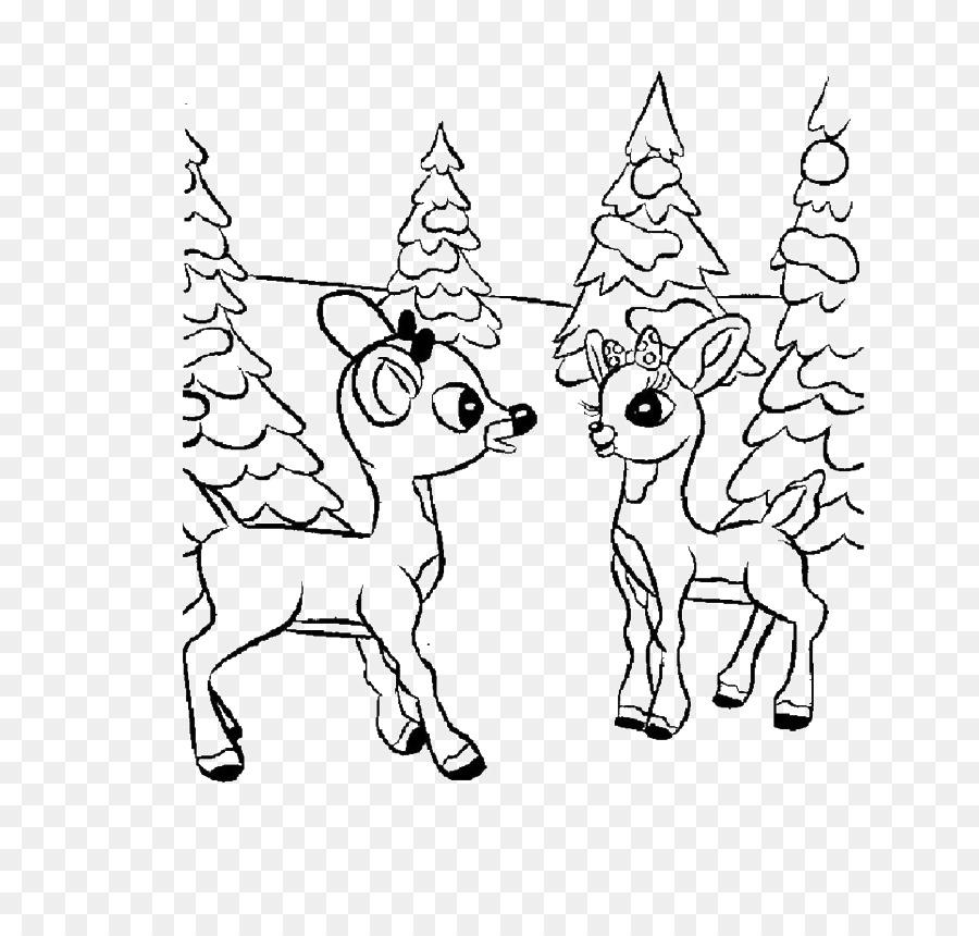 Rudolph libro para Colorear de Niño a Santa Claus de los Ciervos ...