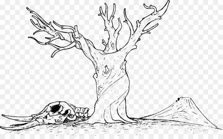 Pohon Mewarnai Buku Halangan Branch Clip Art Pohon Unduh Garis